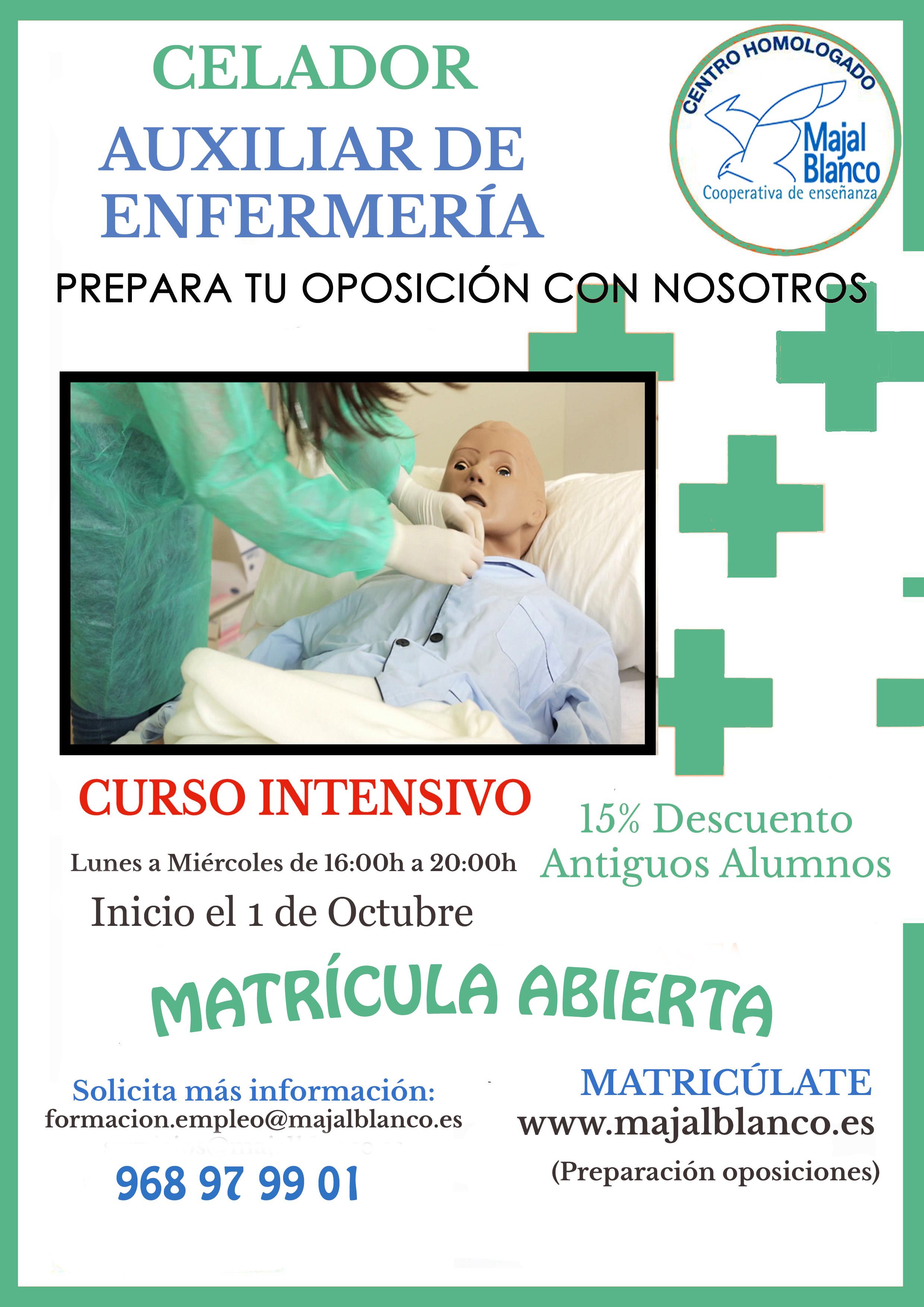 Preparación de Oposiciones Auxiliar de Enfermería y Celador