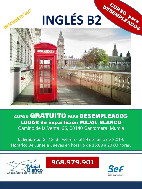 <h2> Curso gratuito para Desempleados Inglés B2 </h2>