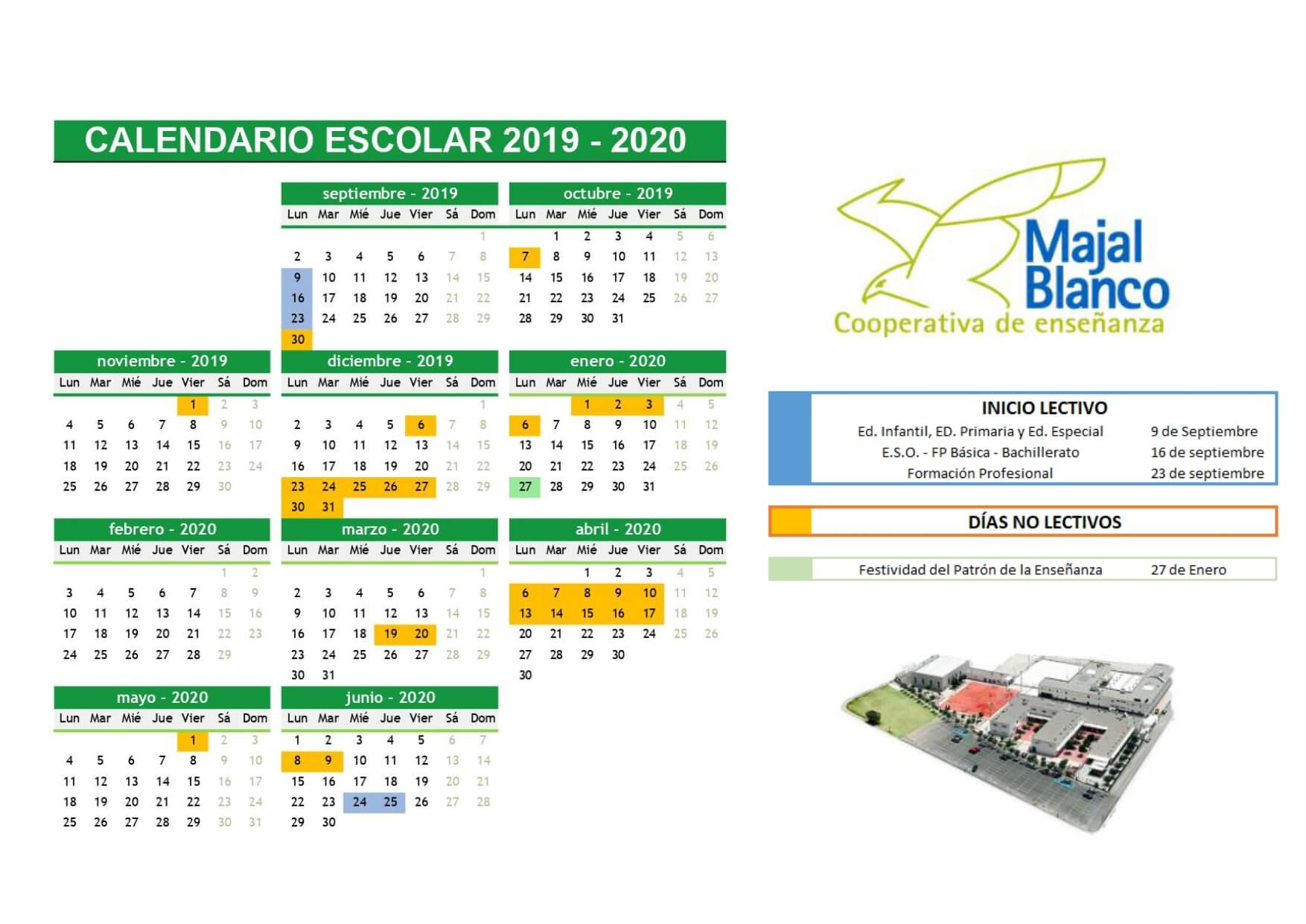 Calendario Escolar Galicia 2020 19.Calendario Escolar Murcia 2020